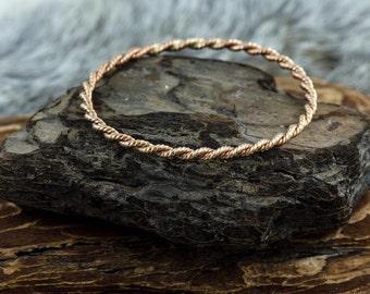 Bronze Rope Coil Bracelet Bangle