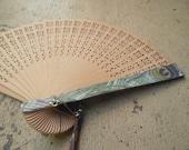 Sandalwood PEACOCK Hand Fan
