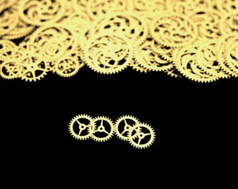 Brass Steampunk Gears, Steampunk Accessories, Steampunk Craft Jewelry Supply - 4qty - 3/4 Inch (19.05mm) Gears. Designer Special