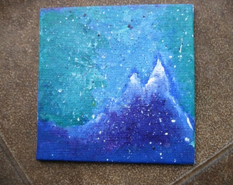 Mountain Dream - Original 4x4'' Acrylic Painting