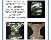 PDF Cloth Diaper Sewing Pattern - Rocket Bottoms OS Petite Fitted