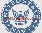 US Navy crochet graph pattern