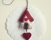 Felt house ornament