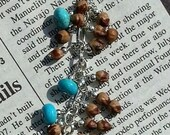 Juniper/Cedar seeds, Kingman Turquoise Bracelet, Juniper Berry Jewelry, Cedar Berry Jewelry, Navajo Bracelets, Turquoise and Juniper Berry