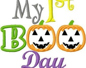 My first halloween embroidery applique designs instant download