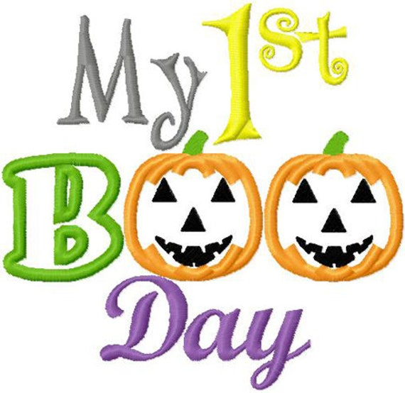 Items similar to My first halloween embroidery applique designs ...