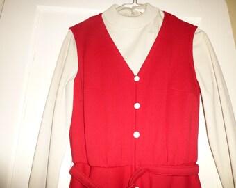 Jumper Dress Vintage Mad Men Era Red Butte Knit NWT