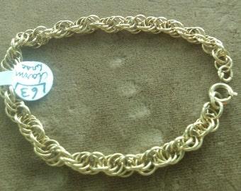 Goldtone Twisted Chain Bracelet