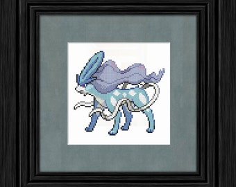Suicune Pokemon Cross Stitch Pattern - Instant PDF Download
