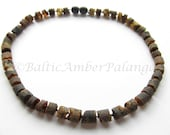 Raw Unpolished Baltic Amber Necklace For 4-10  Year Old Child
