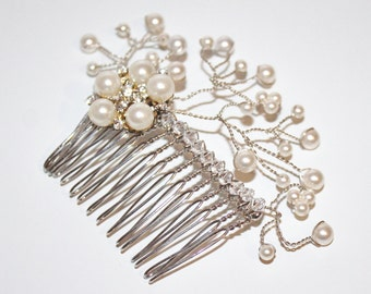 Bridal Hair Comb / Ivory Hair Comb - New 2014 'Simply Pearl' Hair Piece - Bridal comb, Wedding hair comb, Bridesmaid Hair Comb