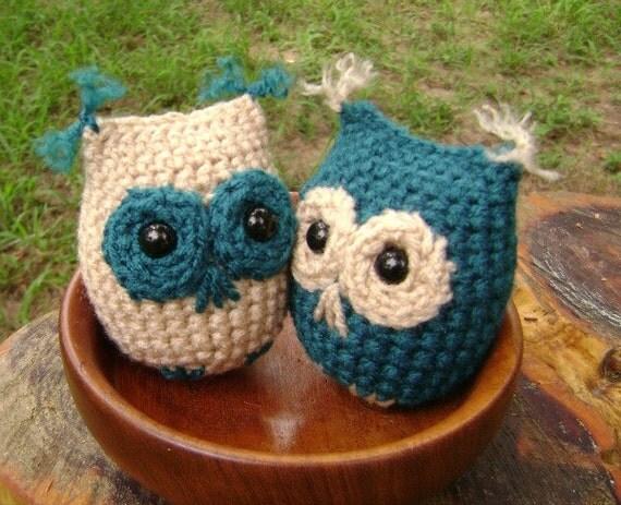 Crochet Owl Ornament Amigurumi Fall Decoration Halloween