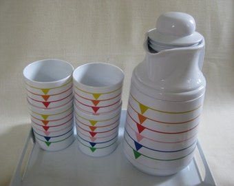 Vintage Color Geometric Serving Set