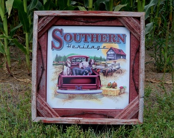 Barnwood Frame with decorative Southern Heritage