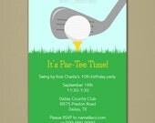 Golf Party Invitation - Personalized DIY Printable Digital File