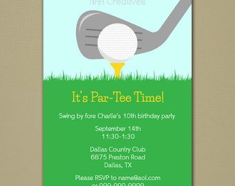 Golf Party Invitation - Personalized DIY Printable Digital File