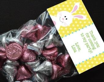 Personalized Bunny Treat Bag Topper - DIY Printable Digital File