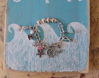 Nautical Charm Bracelet - Antique Silver