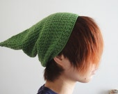 Over Size Pointy Hat in Olive Green, Gnome Hat, Slouchy Pixie Hat, Elf Hat, Slouchy Beanie, Winter Accessories - lapuzelo