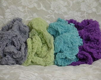 Set of Four Cheesecloth Photography Props...Newborn Props...Baby Cheesecloth Wraps...Hand Dyed Wraps