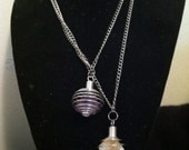 Double Wire Wrapped Elemental Stone Necklace