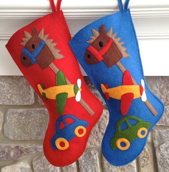 Handmade Wool Felt Christmas Stocking Celebrate With A Baby
