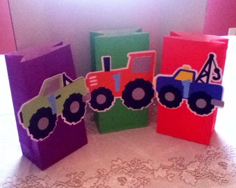 Cute Monster Truck Party Goody Bags