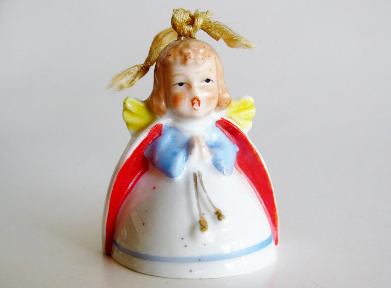 Vintage 50s Miniature Little Girl Christmas Angel Porcelain