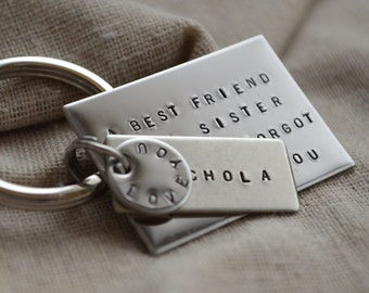 Best Friend Keychain - Large - Custom - Personalized - Quote