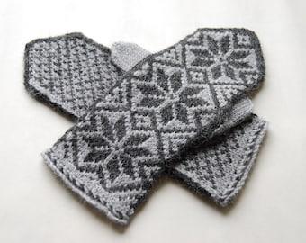 handknitted cozy mittens