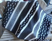 Dog Quilt, Dalmatian Quilt, Black and White Quilt, Modern Quilt, Polka Dot Quilt