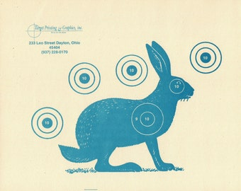 light blue jack rabbit target print