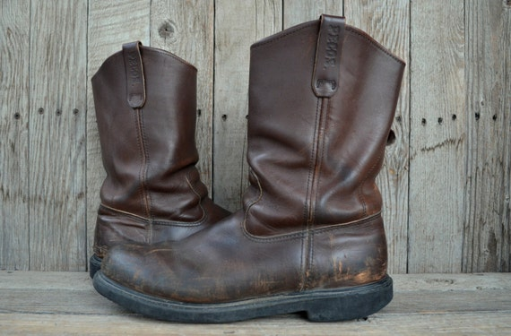 Vintage Red Wing Pecos Pull On Crepe Sole Work Boots 13 B