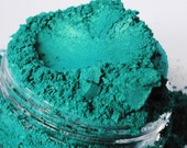 Toxic  Green Eyeshadow Mineral Makeup eyeliner 5g Sifter Jar Blue green Eye shadow Fresh Vegan low luster Natural Eyeliner Samples