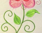 Vintage Flower 10 Machine Applique Embroidery Design - 5x7 & 6x8