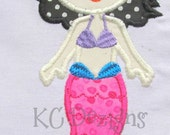 Mystical Mermaid 03 Machine Embroidery Applique Design - 5x7 & 6x8