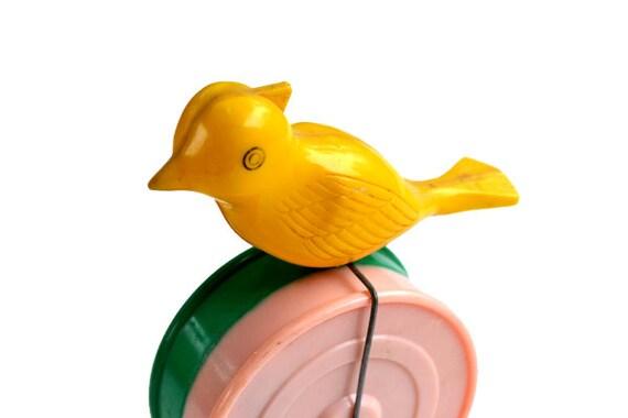 vintage toy vintage animal toy vintage bird yellow bird rocking toy offered by Elizabeth Rosen