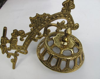 Vintage Cast Iron Part in Gold Finish