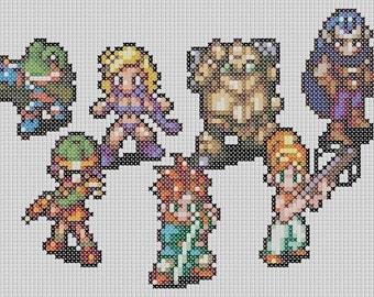 Chrono Trigger party cross stitch pattern