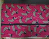 Dachshunds Pillowcase in Red