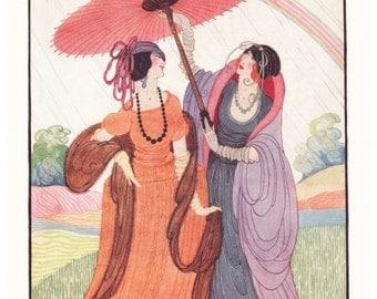 ART Nouveau ART PRINT Vogue Cover from 1920 originally by famous artist Dryden
