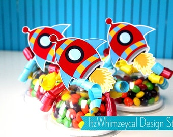 Rocket | Rocket Ship | Rocket Birthday | Rocket Ship Birthday Party | Rocketship | Candy Container | Party Favor Boxes | Kids Favors | Gifts