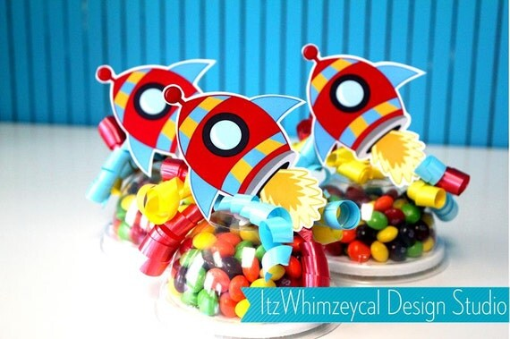 Rocket Ship Candy Favor Containers By ItzWhimzeycal Design