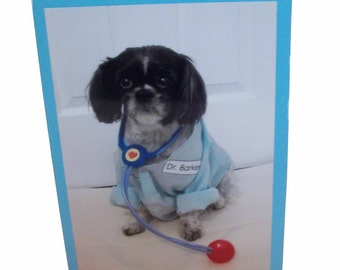 Shih Tzu Get Well Card, Feel Better Card, Humor Sick Card