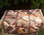 Crazy Quilt 32.5 inches W x 38.5 inches L in Fall colors