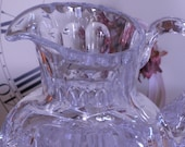 """Lead Crystal Small Pitcher 4.75"""" Tall Holds 12 Oz Mint Condition Gorgeous and Stunning"""