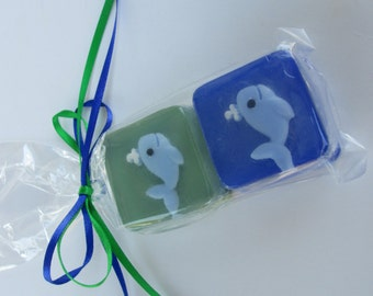 Baby Shower Whale Soap Favors, personalized, custom madein your color theme