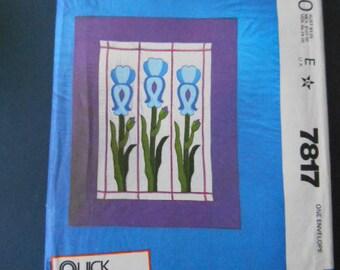 McCalls 7817, Crafts, quilt,  Iris, stainglass window