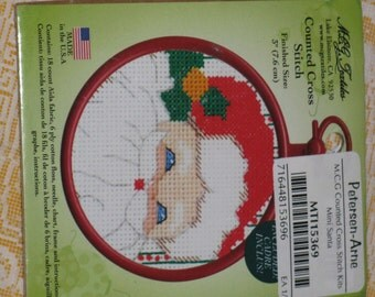 Santa Counted Cross Stitch Kit Holiday Christmas New