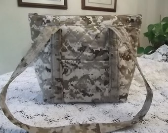 U. S. Marine Camo Machine Quilted Purse